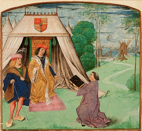 Jean_Molinet_presents_his_book_to_Philip_of_Cleves